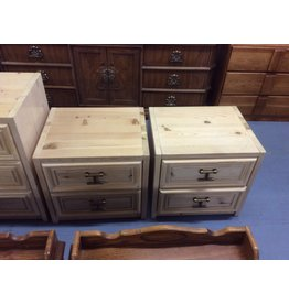 Pair 2 drawer nightstands / pine