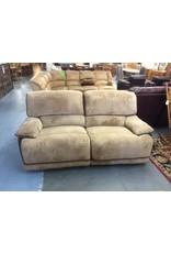 Dual reclining sofa / 2 tone brown