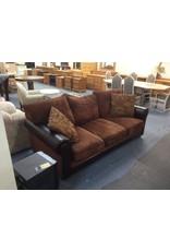 Sofa / dark brown faux