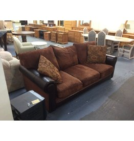 Sofa / dark brown faux