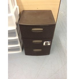 3 drawer storage bin / brown