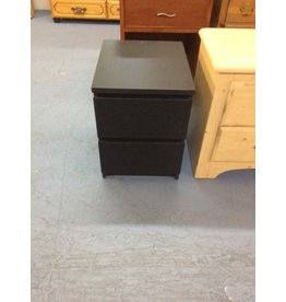 2 drawer nightstand / black