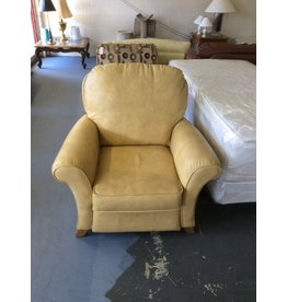 Pushback recliner / tan leather