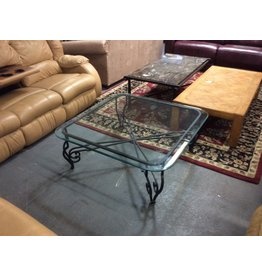 Coffee table / glass n metal