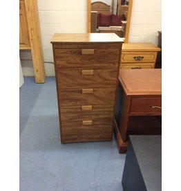 5 drawer chest / oak wrap