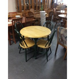 5 piece dinette / green n blonde