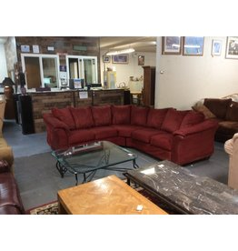2 piece sectional / red micro