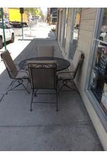 5 piece patio / padded metal