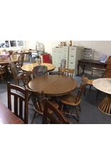 5 piece dinette / round oak wrap