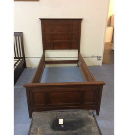 Twin bedstead / dark oak