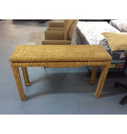 sofa table / wicker
