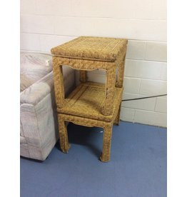 Pair end tables / wicker