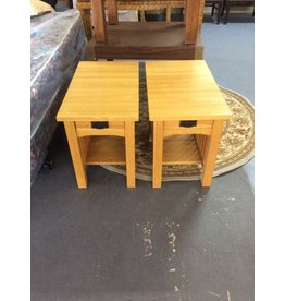 Pair end tables / mission