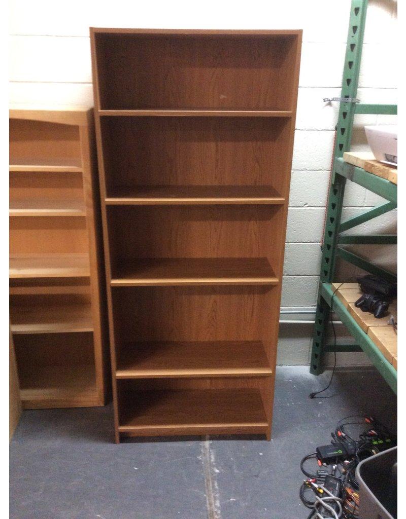 6' bookcase / oak wrap