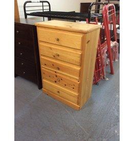 5 drawer chest / pine