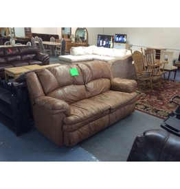 Dual reclining sofa / brown leather
