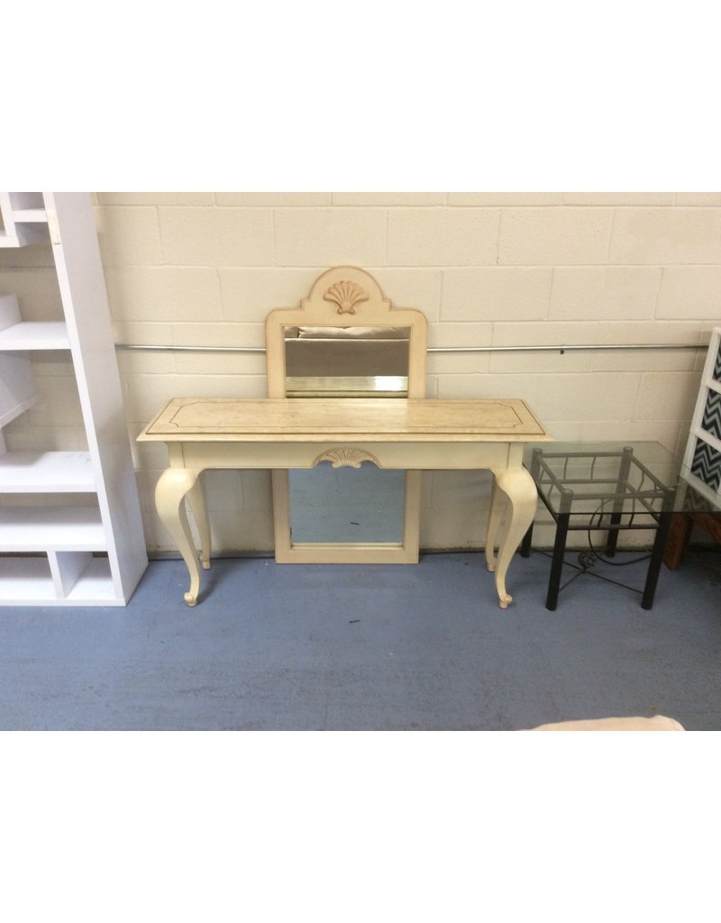 Entry table w mirror / marble