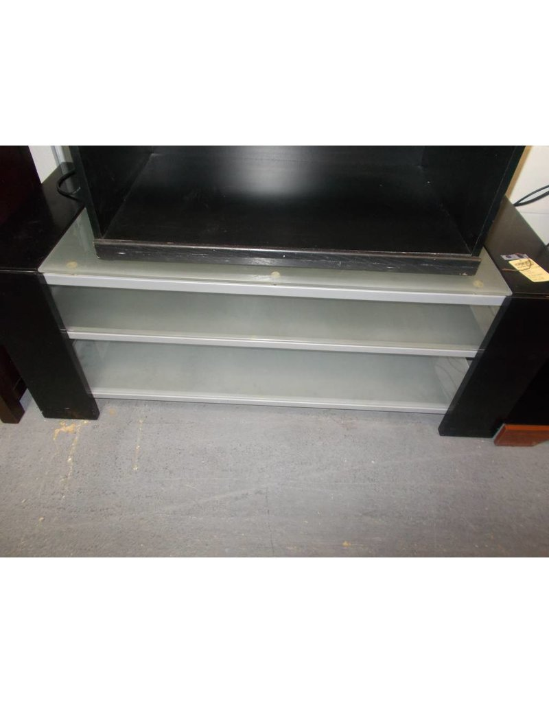 3 Tier T V Stand Glass And Metal Recycled Furniture