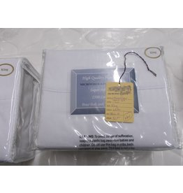New microfiber sheets king white