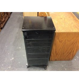 Media cabinet swivel black and glass