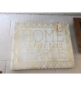 Wall decor home is where.