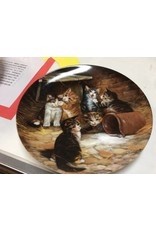 Decor plate kittens and jug