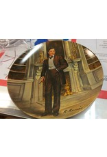 Decor plate man with cigar
