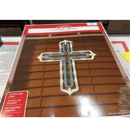 Christmas lighted cross