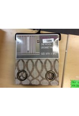 One Woven Grommet Curtain Panel, 54x84