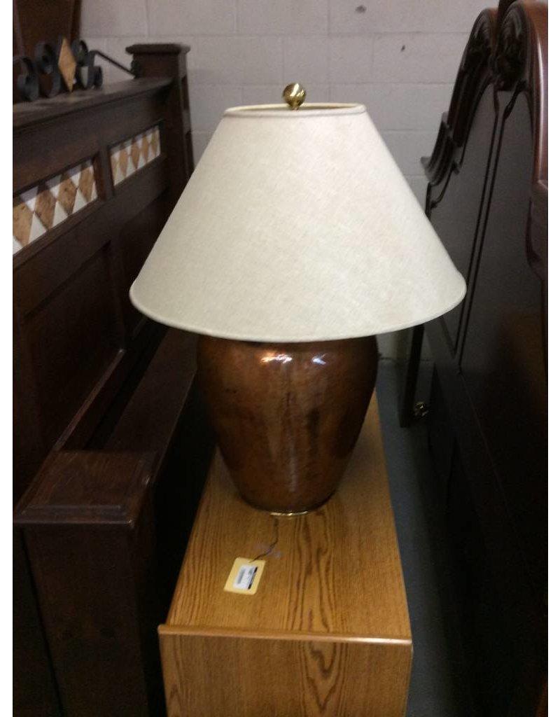 Table lamp / jug style brown