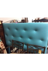 Full headboard only teal faux leather