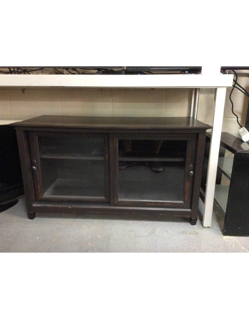 TV stand / espresso & glasss