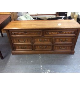 8 drawer dresser oak