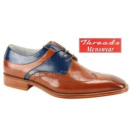 Giovanni Giovanni Dress Shoe Enzo - Caramel/Blue