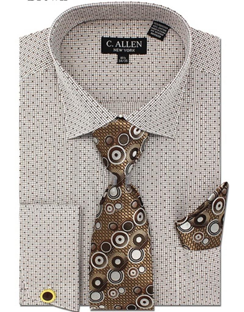 C. Allen C. Allen Shirt Set - JM214 Brown