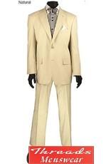 """Vinci Vinci Linen Suit - """"FV2LC-1"""" Natural"""