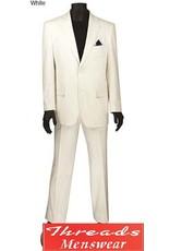 """Vinci Vinci Linen Suit - """"FV2LC-1"""" White"""