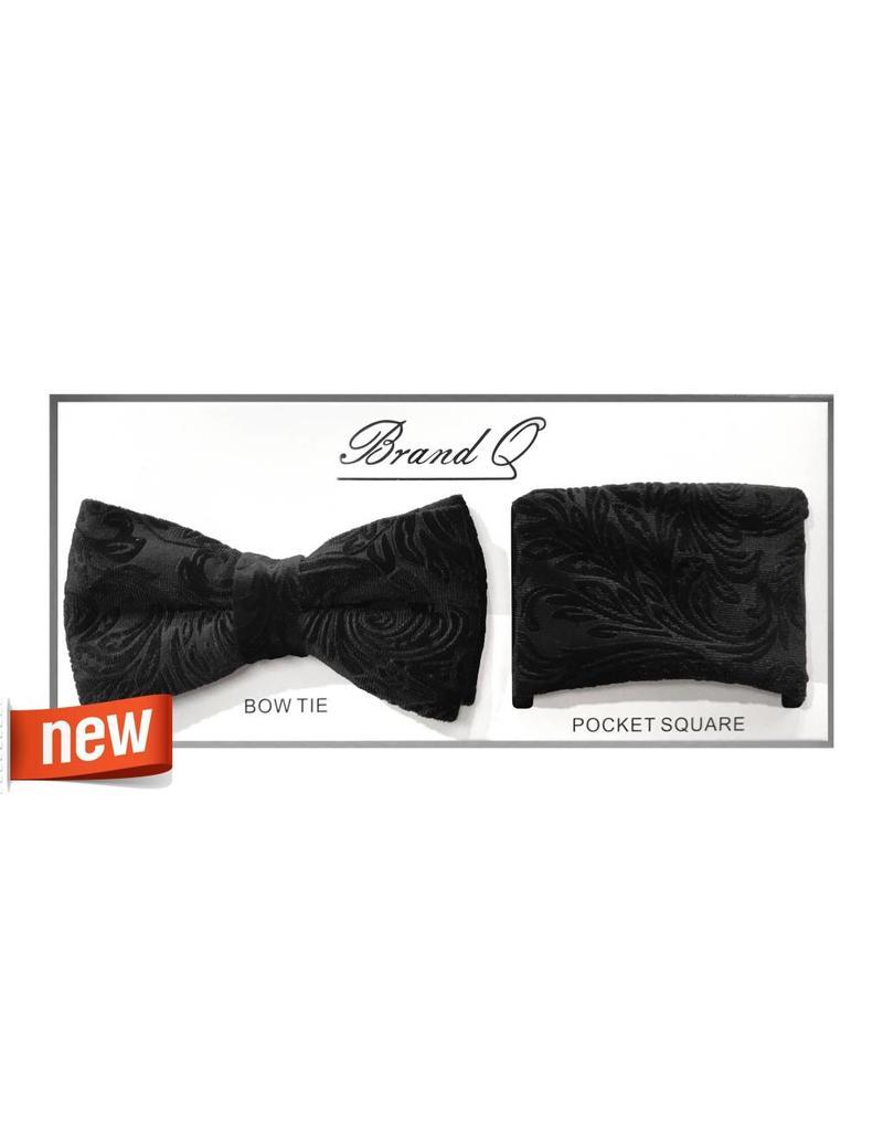Brand Q Brand Q Paisley Velvet Bowtie Set - BTV600