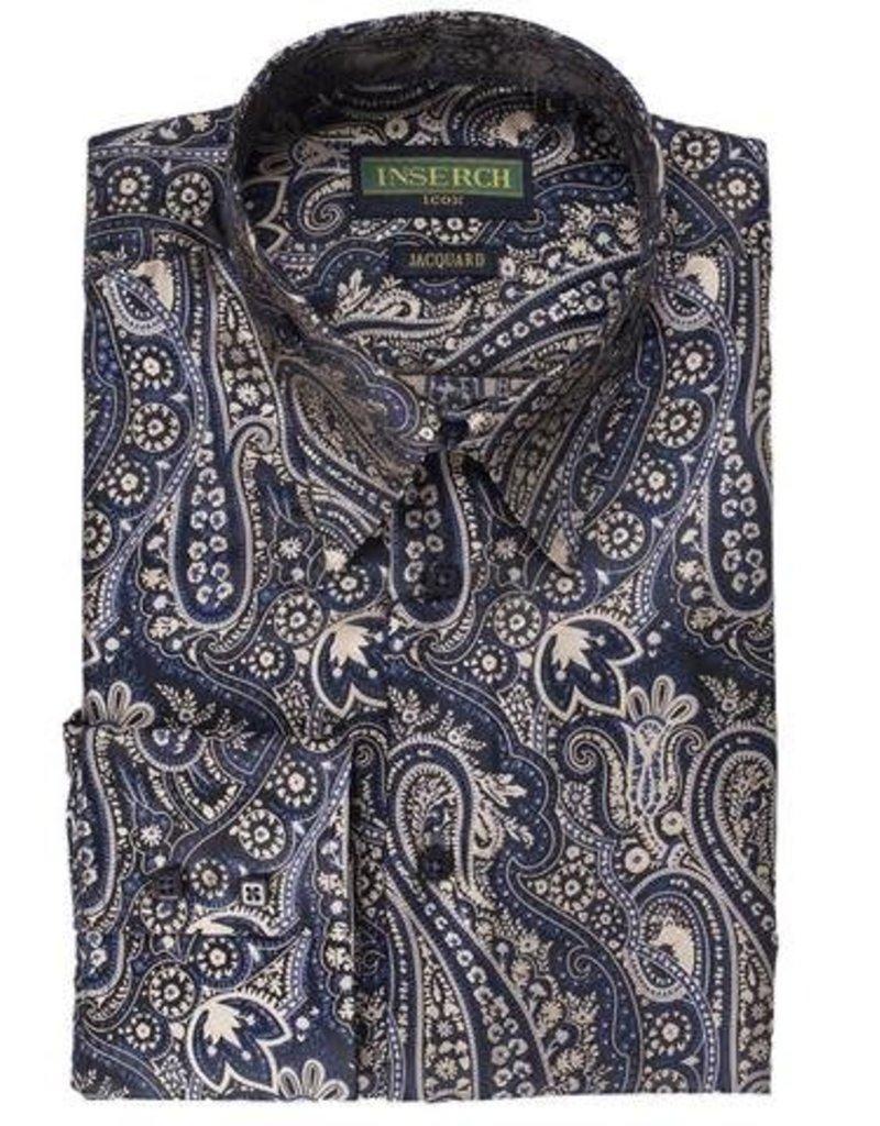 Inserch Inserch Paisley Jacquard Shirt - 2266 Blue