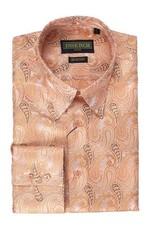Inserch Inserch Paisley Jacquard Shirt - 2265 Peach