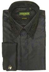 Inserch Inserch Paisley Jacquard Shirt - LS005 Black