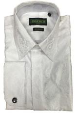 Inserch Inserch Paisley Jacquard Shirt - LS005 White