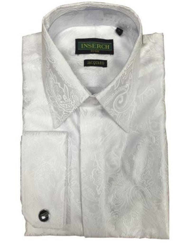 Inserch Inserch Paisley Jacquard Shirt - 2261 White