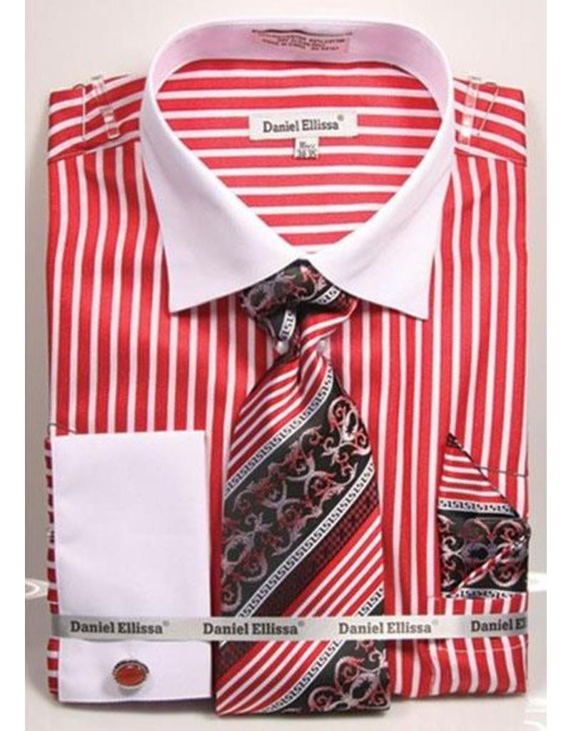 Daniel Ellissa Daniel Ellissa Shirt Set - DS3787 Red