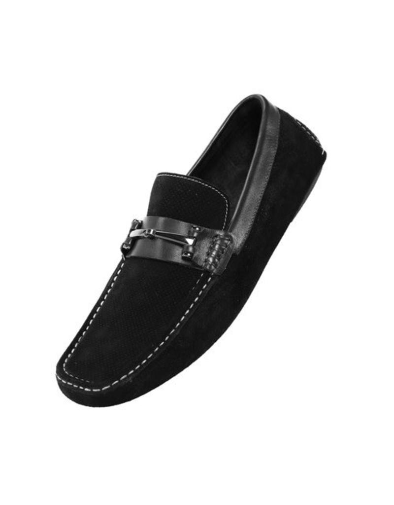 Asher Green Asher Green Leather Casual Shoe - AG8702 Black