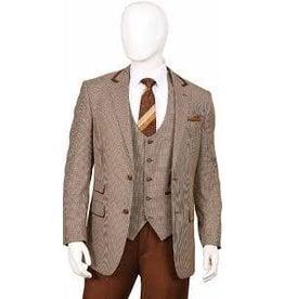 Lorenzo Bruno Lorenzo Bruno Vested Suit - F62HV Brown