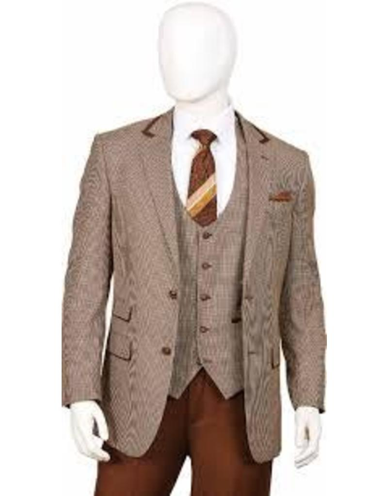 Lorenzo Bruno Lorenzo Bruno Vested Suit - F62HV Brown