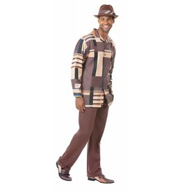 Montique Montique Long Sleeve Pantset - 1819 Brown