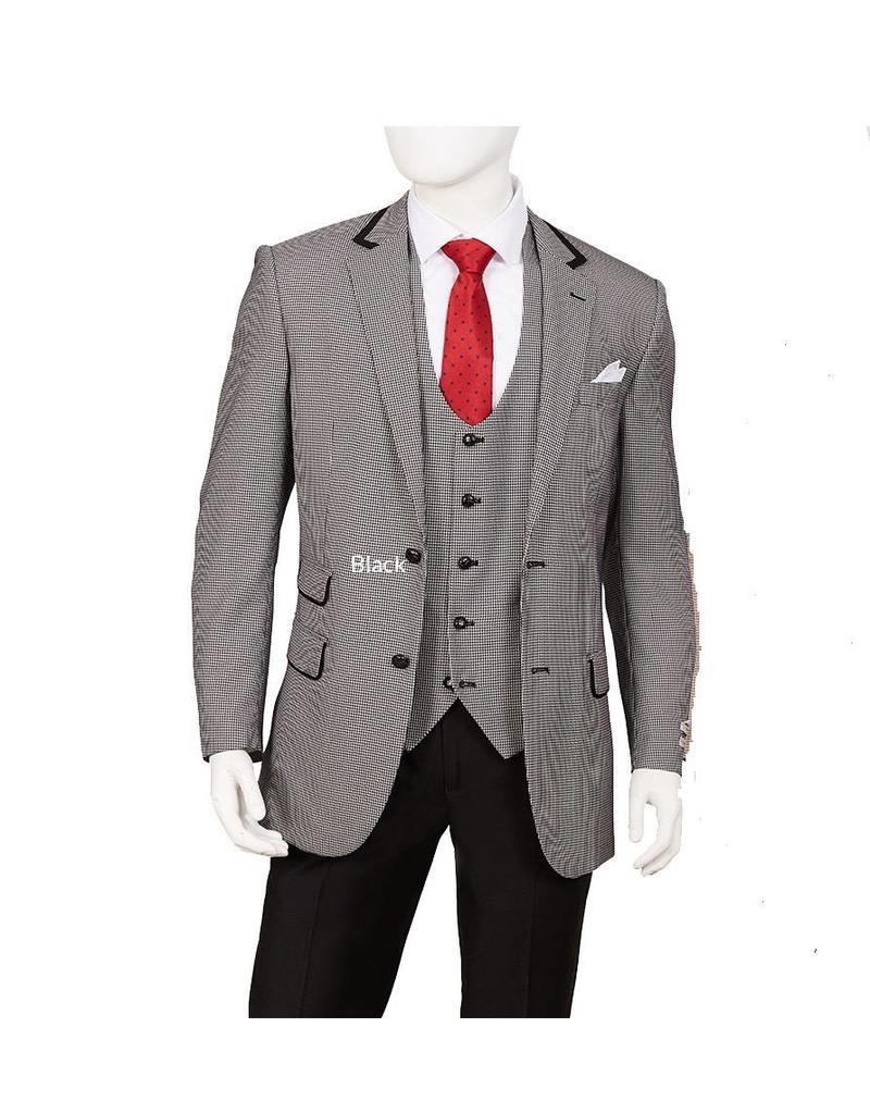 Lorenzo Bruno Lorenzo Bruno Vested Suit - F62HV Black