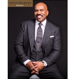 Steve Harvey Steve Harvey Vested Suit - Black/Gray Plaid 2188821